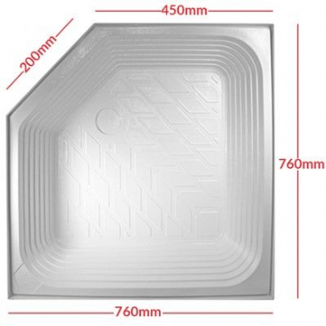 Caravan/Motorhome EXTRA DEEP SHOWER TRAY A/C WHITE